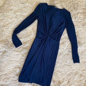 Navy missguided cut out dress